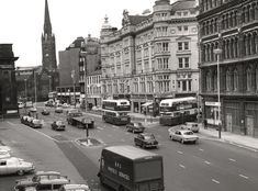 Street Newcastle upon Tyne City Engineers 1969 Newcastle Cathedral, Local Studies, Busy Street, Central Station, Engineers, Vintage Photos, The Good Place, Photograph, Corner