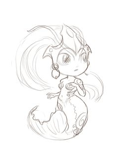 PAS A PAS - Nami Koi CHIBI - Fanart league of legends - DZAKA