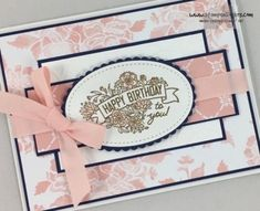 Stampin' Up! Label Me Lovely Florals Birthday Card | Stamps – n - Lingers