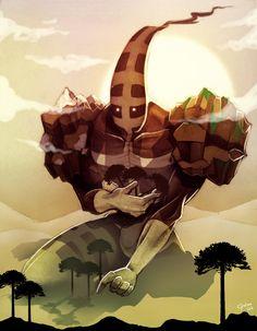 Coloso de tierra del fuego by SoyUnGnomo.deviantart.com on @deviantART Jojo Bizarre, Jojo's Bizarre Adventure, Deviantart, Doodle Art, Master Chief, Illustration, Doodles, Comics, Drawings