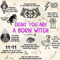 Signs You Are A Witch Witchcraft Spell Books, Witch Spell Book, Magick Spells, Green Witchcraft, Spells For Beginners, Witchcraft For Beginners, Wiccan Magic, Wiccan Witch, White Witch Spells