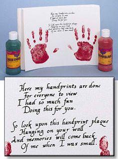 valentine handprints - I <3 this poem