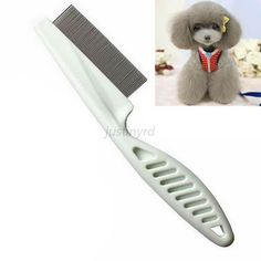 cool Pet Dog Hair Shedding Grooming Comb Puppy Cat Stainless Pin Brush Flea Comb GB