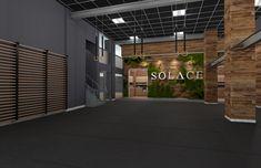 Ground Floor of CrossFit Solace, renderings of a new luxury CrossFit gym in NYC.