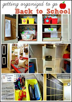 Our Fifth House: 5 Back to School Organization Ideas