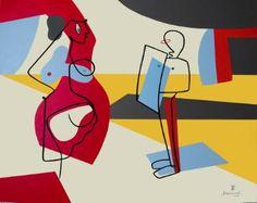 """Saatchi Art Artist Bernard Simunovic; Painting, """"""""SELFI(e)SH QUEEN"""" Contemporary Art, lines, abstract, figurative"""" #art"""