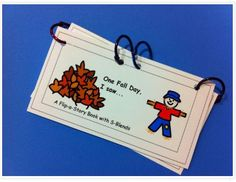 Speech Therapy Idea of the Week: S-Blends Flip Book for Fall - Pinned by @PediaStaff – Please Visit http://ht.ly/63sNt for all our pediatric therapy pins