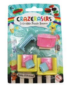 Totally FUNctional Assorted Furniture Crazeraser Collectible Puzzle Erasers Fashion Angels http://www.amazon.com/dp/B00H2YOUOY/ref=cm_sw_r_pi_dp_8QNhub0MA8R2X