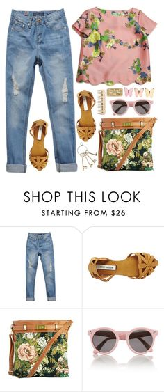 Tell her she's beautiful. by felytery on Polyvore featuring Steve Madden, Illesteva, women's clothing, women's fashion, women, female, woman, misses and juniors