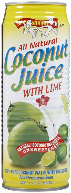 Amy & Brian   All Natural Coconut Juice with Lime