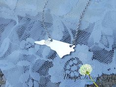 NC State Necklace North Carolina Necklace by Unique2chicdesigns