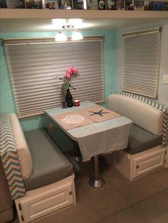 Reupholstered dinette seats!