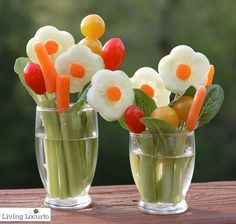 Veggie Flower Bouquet Treat. LivingLocurto.com