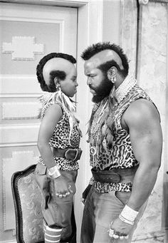 "Superstar    In this September 11, 1983, file photo, Gary Coleman, star of television's ""Diff'rent Strokes,"" exchanges views with Mr. T, star of ""The A-Team,"" during a break in the taping of a ""Different Strokes"" episode at the Universal Studios near Burbank, California (AP Photo)."