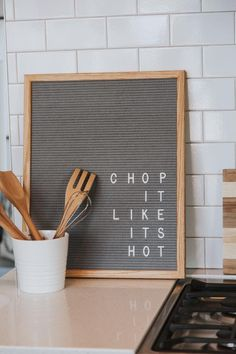 You'll love this letter board that is perfect for any home! Shop our felt and wood letter boards to find trendy home decor ideas! Felt Letter Board, Felt Letters, Felt Boards, Sign Boards, 26 Letters, Word Board, Quote Board, Message Board, Kitchen Letters