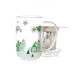 Winter Village Glass Nordic Mug:  $$$ but very pretty
