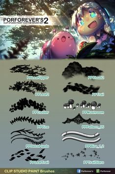 Porforever's Custom Brush Set For ClipStudioPaint Software Pro/EX) These are my of ClipStudioPaint custom brush set. They're brush. Digital Painting Tutorials, Digital Art Tutorial, Art Tutorials, Clip Studio Paint Brushes, Digital Art Beginner, Manga Drawing Tutorials, Nature Drawing, Brush Set, Online Art Gallery
