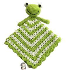 Manta de apego ranita a crochet