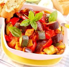 Ratatouille is the classic French vegetable stew from Provence made with eggplant, zucchini, onions and tomatoes. You can serve this as a slow cooker side dish or as a main course with salad and crusty bread! Vegetable Stand, Vegetable Side Dishes, Heart Healthy Recipes, Vegetarian Recipes, Healthy Vegetables, Veggies, Slow Cooker Ratatouille, Nicoise, Seasonal Food