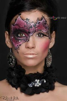 mascara-carnaval-maquiagem-colorida