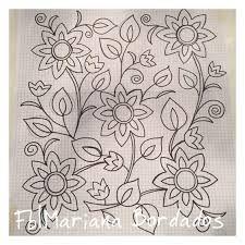 Resultado de imagem para riscos de flores para bordar pinterest