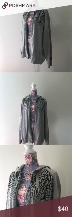 Gray Air Jordan full zip jacket Size XXL and in great condition! Air Jordan Jackets & Coats