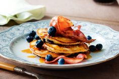 Sweet and salty does it for Americans, who love their fruity pancakes with crispy bacon.