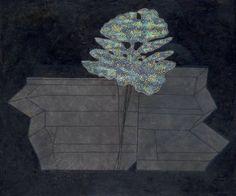 Prunella Clough. 'False Flower'. Oil on canvas. 1993.