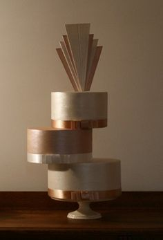 Lovely cantilevered Art Deco cake.