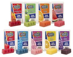 Jolly Rancher Collection by Hannas Candle Company Diy Wax Melts, Scented Wax Melts, Cute Disney Pictures, Jelly Belly Beans, Gift Baskets For Women, Jolly Rancher, Candle Companies, Perfume, Pink Lemonade