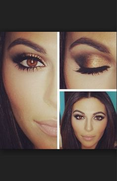 Beautiful brown +gold = perfect for brown eyed girls