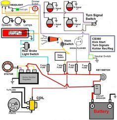 caf� racer wiring