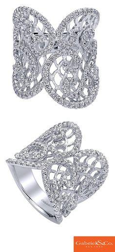 A gorgeous Amavida 14k White Gold Diamond Ring from Gabriel & Co.