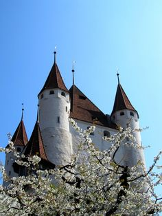 Schloss Thun, Bern, Switzerland The mediaeval castle above the town of Thun is a prominent eye catcher at the entrance to the Bernese Oberland Region.