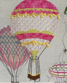 Kirk & Bradley needlepoint hot air balloon