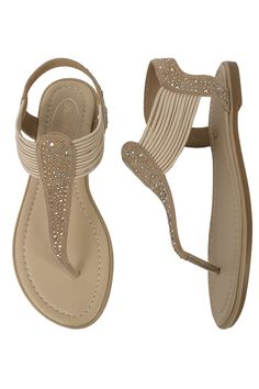 Pia Rossini Summer Beach Sandals Cosmo Pair Gold
