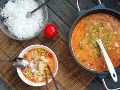 Asijská kokosová polévka 2, Foto: All Smoothie, Curry, Cooking, Ethnic Recipes, Vietnam, Indie, Food, Smoothies, Cucina