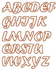 Handwriting Cute Font machine embroidery applique by artapli