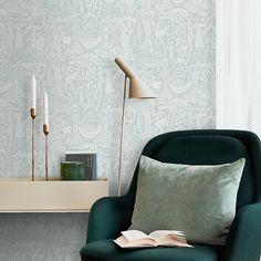 Tapet Boråstapeter Scandinavian Designers II Poeme D Amour 1761 Zen Wallpaper, Beige Wallpaper, Stig Lindberg, Spare Room, Colour Schemes, Scandinavian Design, Nordic Design, Timeless Design, Floor Chair
