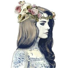 Lana Del Rey ILLUSTRATIVE ❤ liked on Polyvore featuring art, fillers, lana del rey, drawings and backgrounds
