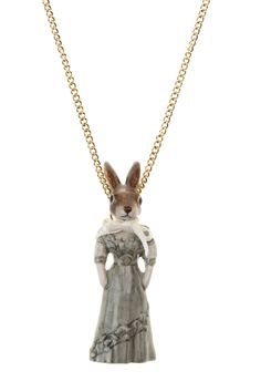 Hare in Dress Necklace