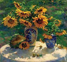 Del Gish - 'Still Life with Sunflowers' - The Art Spirit Gallery of Fine Art
