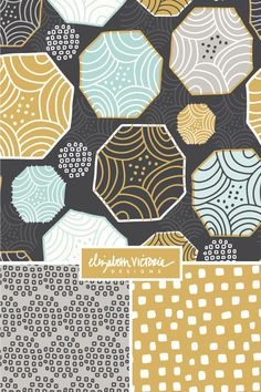Objectivity Collection // Surface Pattern Design by Beth Schneider - Elizabeth Victoria Designs
