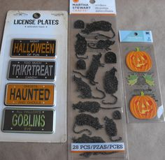 Halloween Scrapbook stickers and rats and by ThePaperPeddler, $7.00