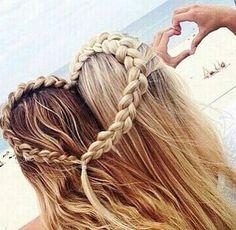 Best Friends Heart Hairstyle friendship hair friends pretty best friends hair ideas hairstyles