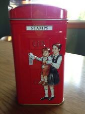 3D London Telephone Box Tea Tin Coin Bank Ahmad English Breakfast Tea