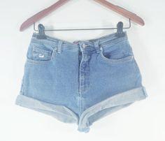HIGH WAISTED Denim Shorts  Ultra High Waist by TomieHarleneVintage, $19.99