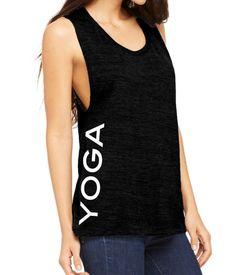 Items similar to Yoga Shirt. Yoga Clothes. Yoga Tank Top. Yoga Muscle Tank.  Yoga. on Etsy 76596058d6f6a