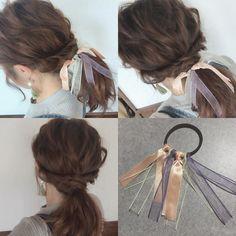 Diy Hair Scrunchies, Diy Hair Bows, Ribbon Hair, Ribbon Flower, Fabric Flowers, Hair Jewels, Velvet Hair, Bridal Mehndi Designs, Diy Hair Accessories