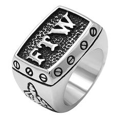 enhong Stainless Steel Mens Outlaw Punk FTW Silver Biker Rings Motorcycle Jewelry US Skull Jewelry, Jewelry Rings, Jewlery, Unique Mens Rings, Rings For Men, Mens Ring Designs, Mens Skull Rings, Biker Rings, Thumb Rings